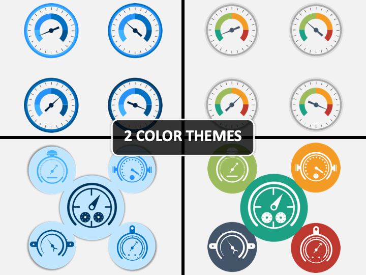 Barometer Icons PPT Cover Slide