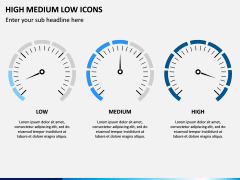 High Medium Low Icons PPT Slide 7