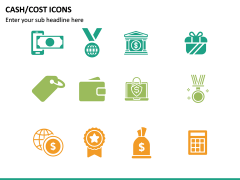 Cash Cost Icons PPT Slide 13