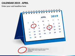 Desk Calendar 2019 PPT Slide 4