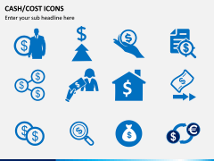 Cash Cost Icons PPT Slide 6