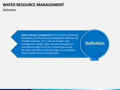 Water Resource Management PPT slide 2