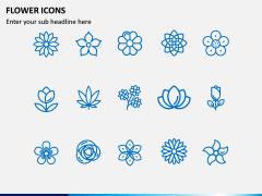 Flower Icons PPT Slide 1