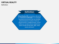 Virtual Reality PPT Slide 2