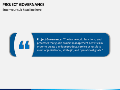 Project Governance PPT slide 1