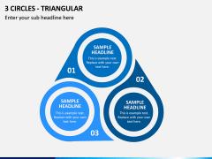 3 Circles - Triangular PPT Slide 1
