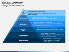 Blooms Taxonomy PPT Slide 5