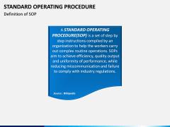 Standard Operating Procedure PPT slide 2