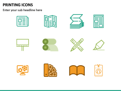 Printing Icons PPT Slide 4