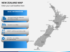 New zealand map PPT slide 14