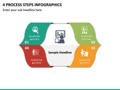 4 Process Steps Infographics PPT slide 2