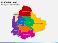 Bengaluru Map PPT Slide 3