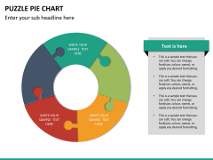 Puzzle pie chart PPT slide 23