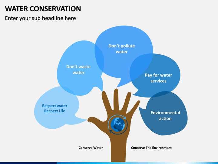 Water Conservation Powerpoint Template Sketchbubble