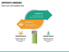 Opposite Arrows PPT Slide 14