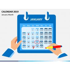 Calendar 2019 - Type 1 PPT Slide 1