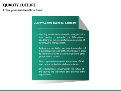 Quality Culture PPT Slide 20