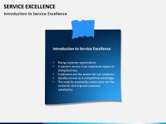 Service Excellence PPT Slide 1