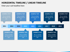 Horizontal Timeline PPT Slide 12