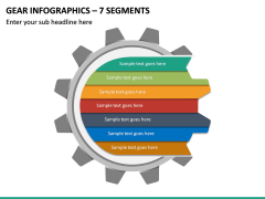 Gear Infographics – 7 Segments PPT slide 2
