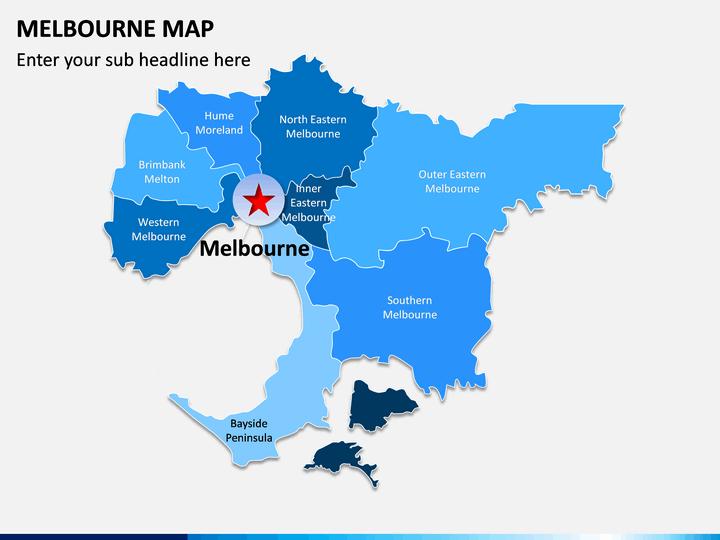 Melbourne Map PPT Slide 1