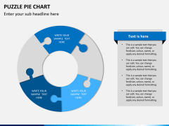Puzzle pie chart PPT slide 10