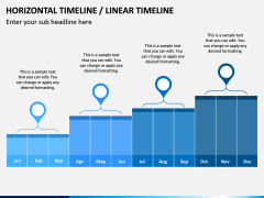 Horizontal Timeline PPT Slide 4