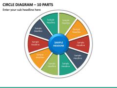 Circle Diagram – 9 Parts PPT Slide 2