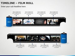 Timeline Film Roll PPT Slide 2