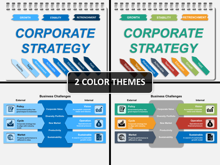 Corporate strategy PPT cover slide