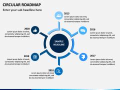 Circular Roadmap PPT Slide 1