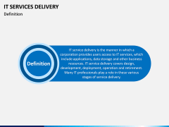 IT Service Delivery PPT Slide 1
