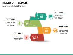 Thumbs Up – 4 Stages PPT Slide 2