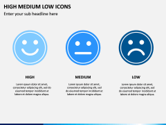 High Medium Low Icons PPT Slide 6