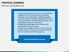 Strategic Learning PPT Slide 1