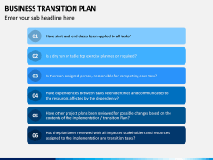 Business Transition Plan PPT Slide 12