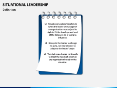 Situational Leadership PPT Slide 1