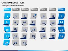 Calendar 2019 PPT Slide 7