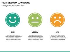 High Medium Low Icons PPT Slide 21