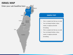 Israel Map PPT slide 11