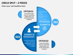 Circle Split – 2 Pieces PPT Slide 1