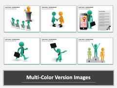 Slide Man (3D Man) - Business Man Multicolor Combined