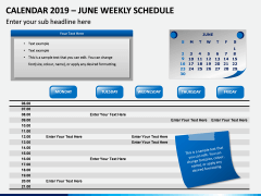 Calendar 2019 Weekly Schedule PPT Slide 6