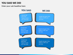 You Said We Did PPT Slide 6