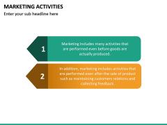 Marketing Activities PPT Slide 17