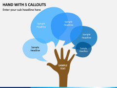 Hand With 5 Callouts PPT Slide 1