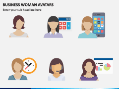 Business Woman Avatars PPT Slide 7