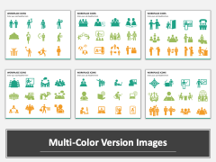 Workplace Icons multicolor combined