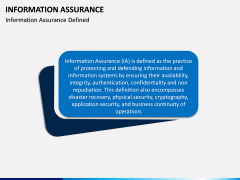 Information Assurance PPT slide 1