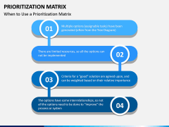 Prioritization Matrix PPT Slide 10